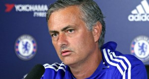 José Mourinho, the Chelsea manager, talks to the media at the club's training ground